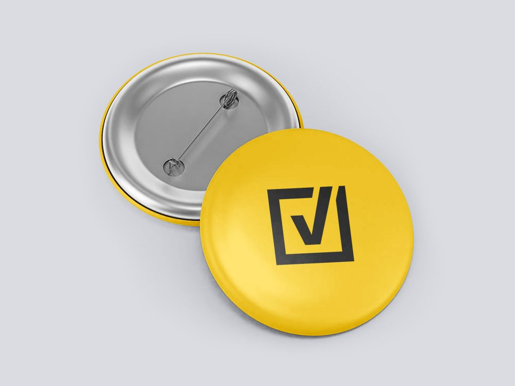 Comprova metal pin button